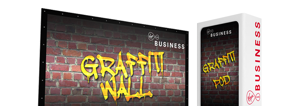 virgin media digital graffiti wall - touch